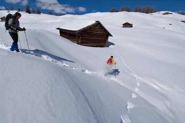 Val Badia, Piz Sorega-Pralongià, inverno, sci e ciaspole