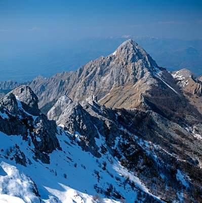 Il PIzzo d'Uccello dal M. Contrario , Alpi Apuane