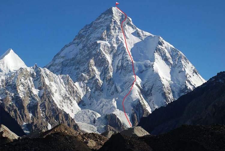 K2,parete sud_Ruta-de-Kukuczka-en-K2-Janusz-Kurczab