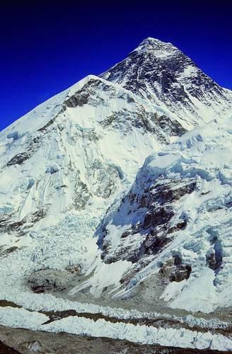 Nepal, Valle del Khumbu, Everest dal Kala Pattar, Ghiacciaio
