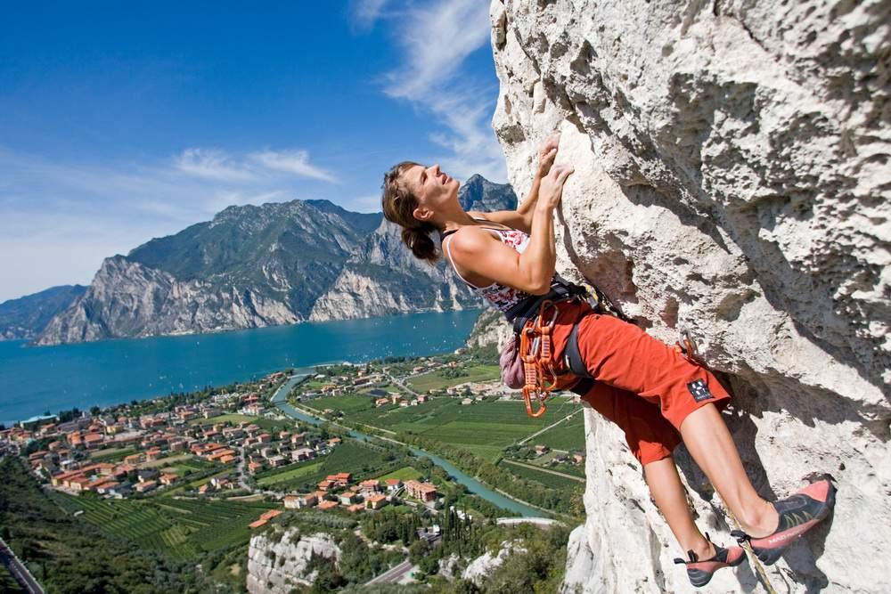 climbing,gardasee,italien , arrampicata ad Arco , donne