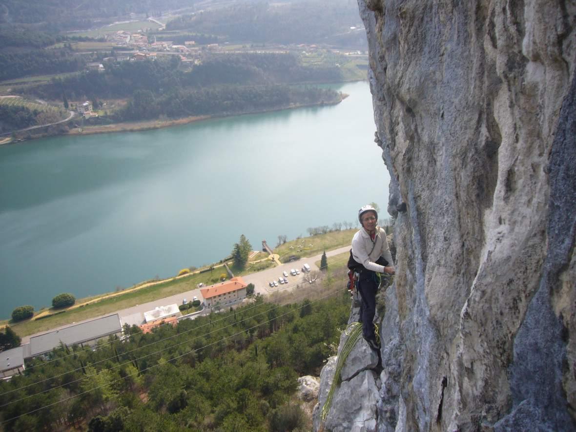 Parete dei Due Laghi (Valle del Sarca), via della Rampa centrale, S. Bragantini su 2aL