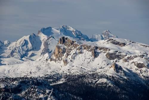 Dalle piste del Faloria (Cortina) su Marmolada