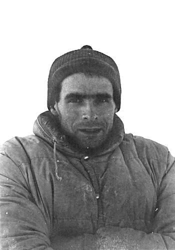Gianni Calcagno al Pizzo Badile, fine 1967