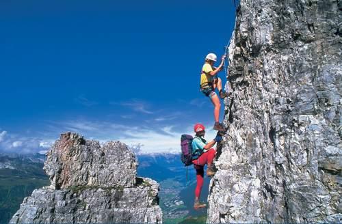 Via ferrata sull'Elfer, Stubai, Tirolo, Austria