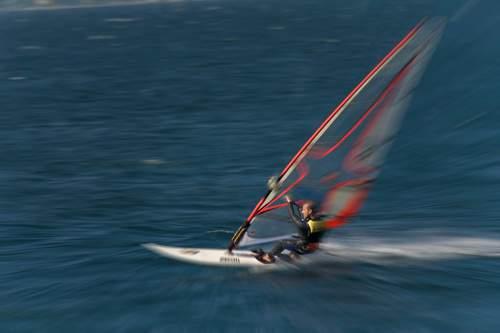 surfen, gardasee, bardolino, italien, august 2006 , Lago di Garda, Torbole, windsurf