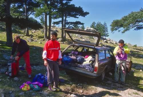 L. Crepaldi, Glauco Dal Bo e G. Sicola a Bavella, Corsica, 29.04.1990