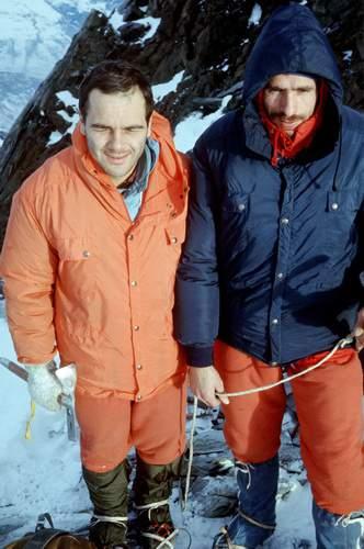 Leo Cerruti e Giani Calcagno, Grivola, prima ascensione invernale della parete NE, via Cretier