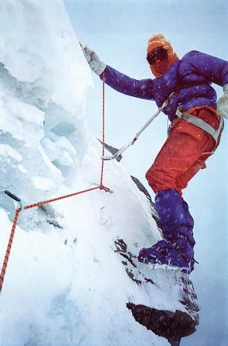 Dougal Haston sulla parete sud dell'Annapurna, 1970