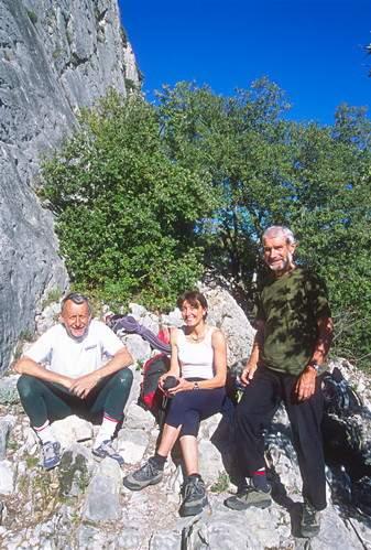 Rocher St. Julien (Buis les Baronnies), 26.4.2001. Provenza. F. Ribetti, Valentina Villa, U. Manera