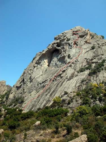 Parete ovest della Punta dei Banditi , Sardegna