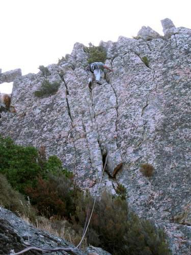 sa Rocca de Ballizzu, via Tarzan sugli Specchi, 5a lunghezza , Sardegna