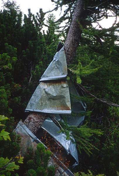 Rifiuti sotto al Vallone di Antermoia, 11.09.1988. Marmolada pulita 1988, Dolomiti