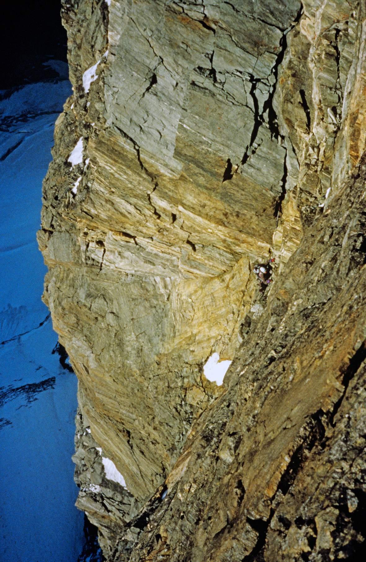 Cesare Ravaschietto su Free Tibet, Cervino, prima ascensione