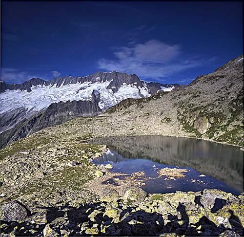 Dalla Bergsee Huette sul Dammastock,18 agosto 1995, Svizzera