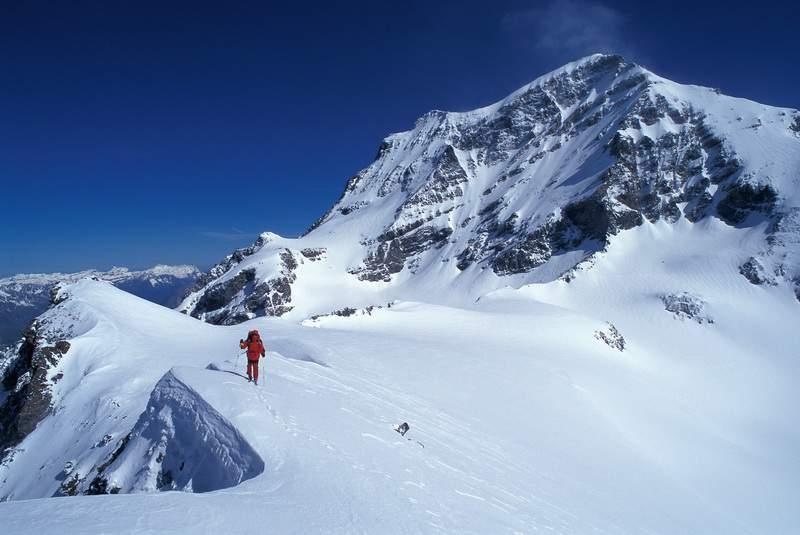 Dalla Tête de By veduta sul Grand Combin. Ollomont, Valle d'Aosta.
