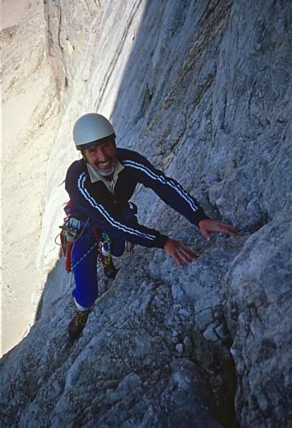 """Graziano """"Feo"""" Maffei, Via dell'Ideale, Marmolada, Dolomiti Occidentali, 23.07.1988"""