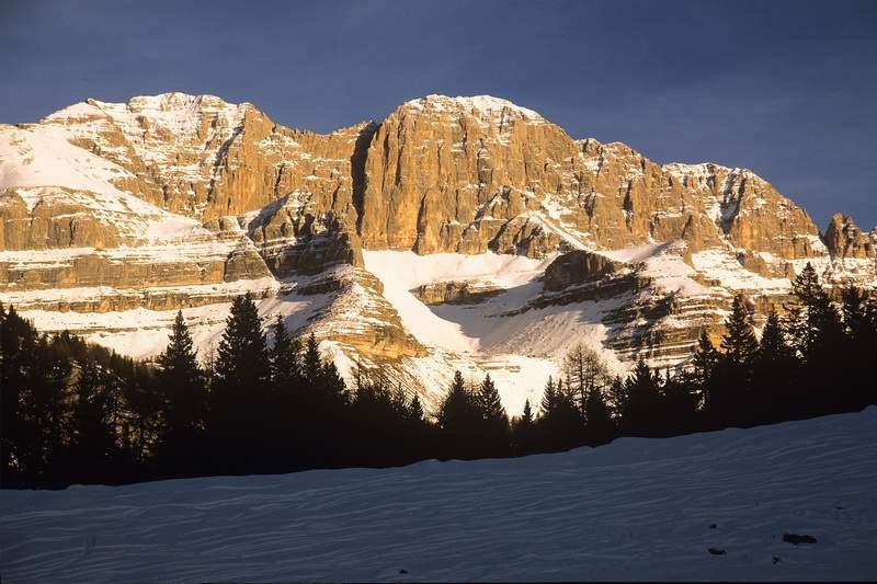 Dolomiti di Brenta, Pietra Grande, inverno (Parco Adamello-Brenta)