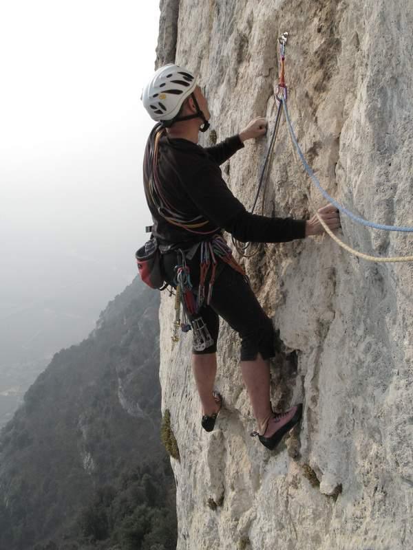 Monte Cimo (Brentino), via GIRL, Marco Lanzavecchia, 2a lunghezza