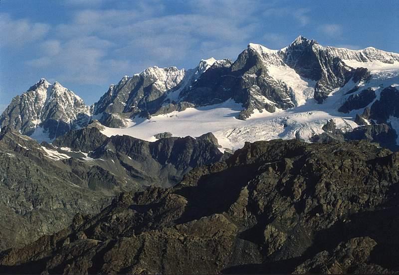 Pizzi Roseg, Scerscen, Bernina, Argent e Zupo' dal Pizzo Scalino. Valmalenco, Valtellina