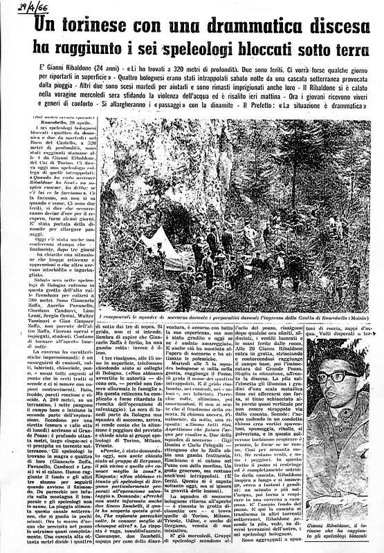 Ribaldone-L'articolo de LaStampa sull'operazione Roncobello