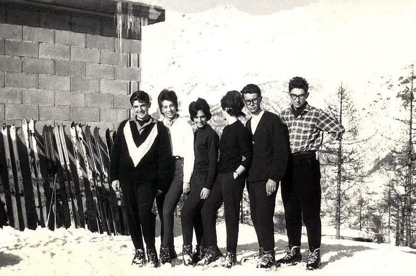 G. Ribaldone in Val di Lanzo, a ds, accanto ad Alberto Castelli