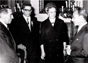 Gianni Ribaldone alla consegna della medaglia d'oro al valor civile