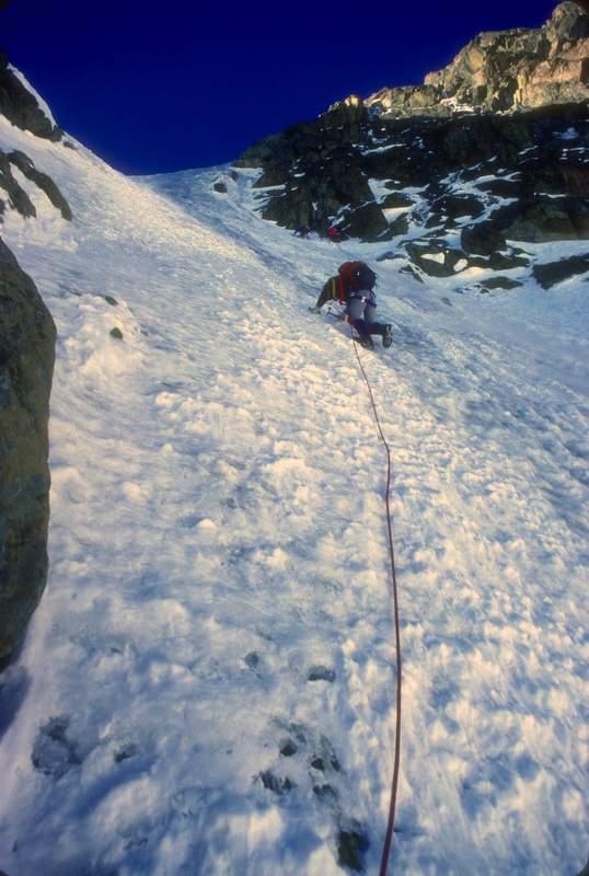 Monte Disgrazia, parete nord, via dell'Insubordinato, 1a asc