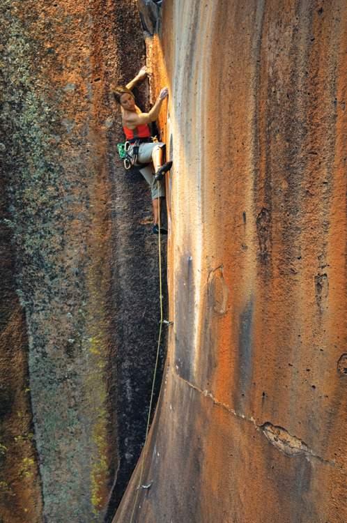 Climbing Girls 02 Heidi Wirtz on 10,000 Maniacs (5.11c), Penitente Canyon, Colorado