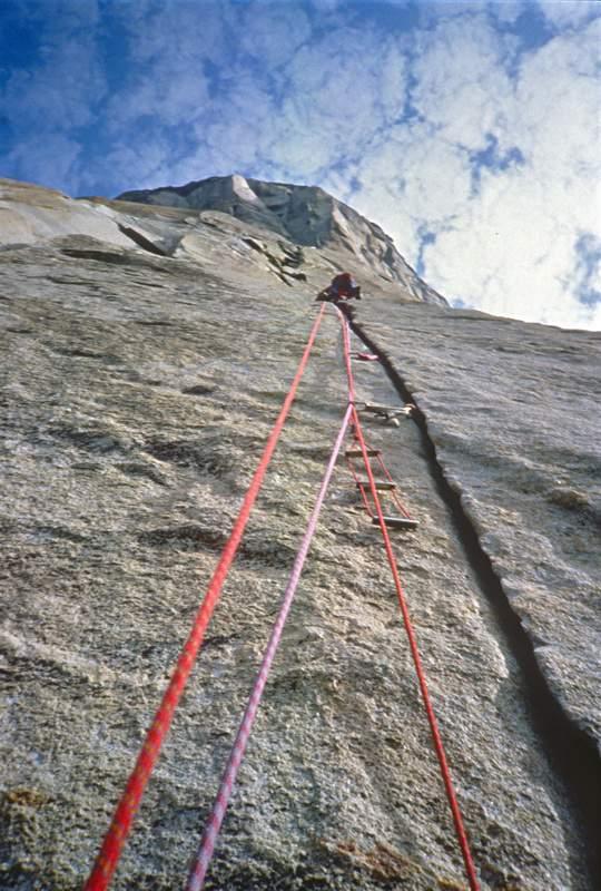Yosemite Valley (California), in arrampicata sul Nose del Capitan