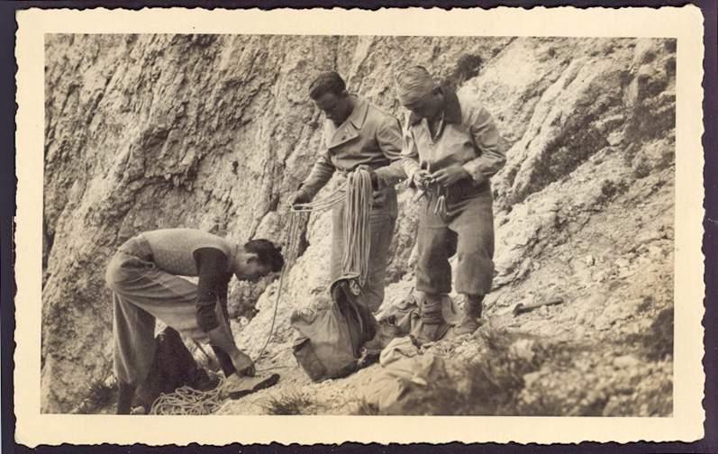 Anni '40 - Ercole Ruchin Esposito con Gentile Butta e Felice Mauri. Archivio Emilio Galli