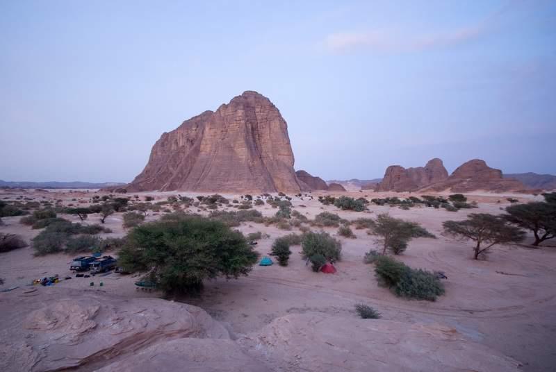 Niger, Djado, tramonto sulla Torre di Orida e le altre torri