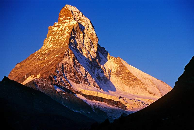 Il Cervino all'alba da Zermatt