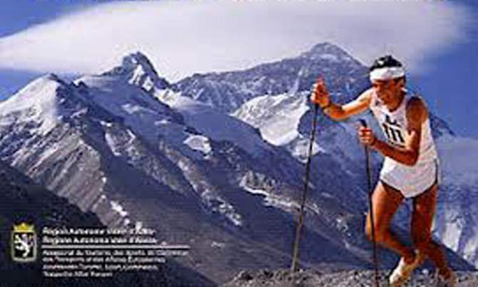 Bruno Brunod detiene il record di salita e discesa del Cervino, da Cervinia a Cervinia per la cresta del Leone, in 3 ore e 14 minuti (17 agosto 1995). Il precedente record era di Valerio Bertoglio (4 h e 16', 10 agosto 1990). ARCHIVIO IN ROSSO.