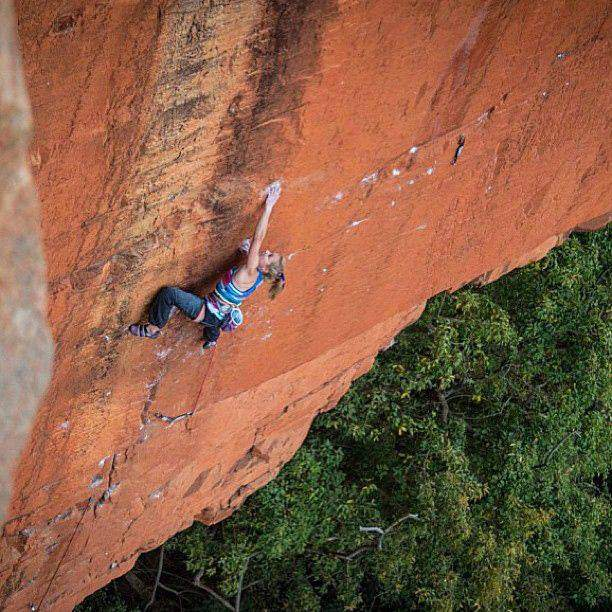 ClimbingGirls-4-Sasha DiGiulian nabs first ascent of Rolihlahla, 5.14c, in South Africa