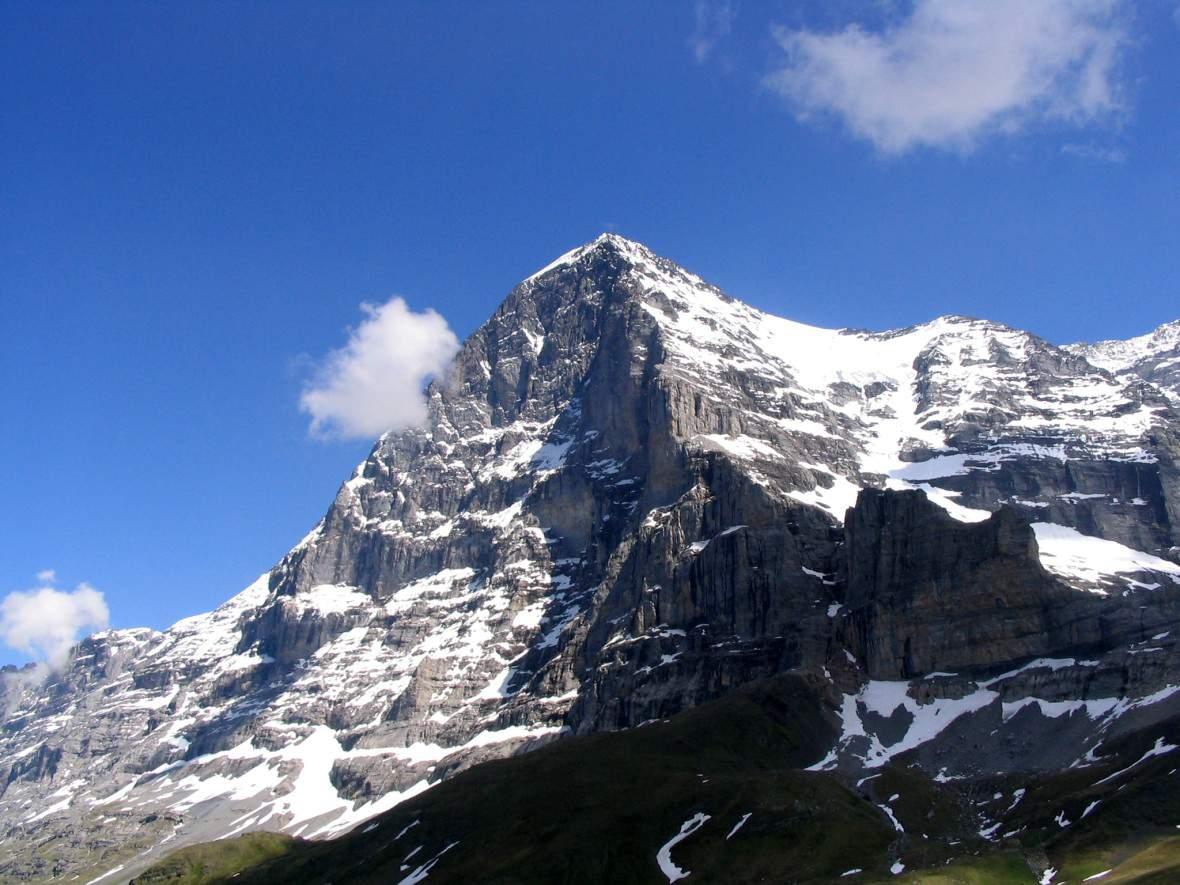 Eiger (3.970 m, Berner Alpen, Nordwestseite), von Kleine Scheidegg aus