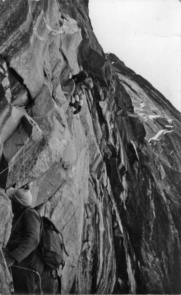Sciora di Fuori, prima asc. parete ovest (1960)