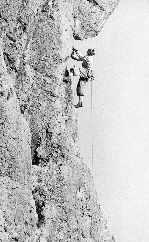 Casara in arrampicata