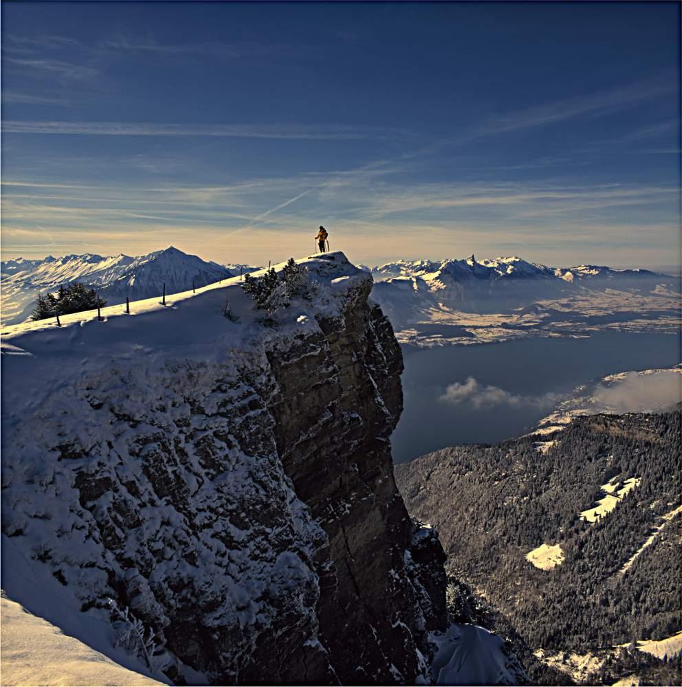 In vetta al Niederhorn, Prealpi Bernesi