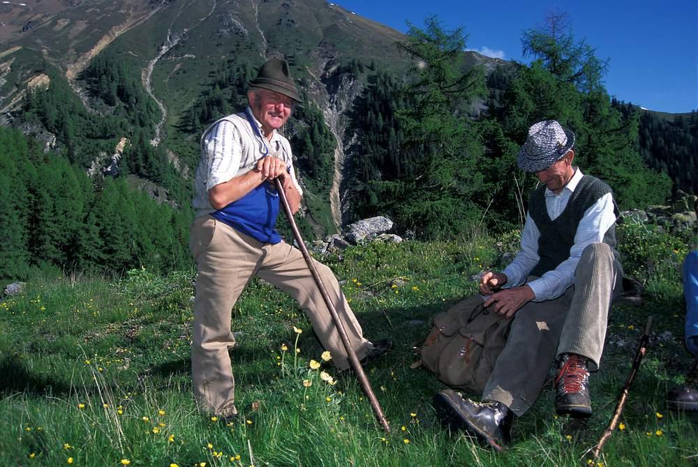 Pastori, salendo alla Prader Alm, Parco Nazionale dello Stelvio