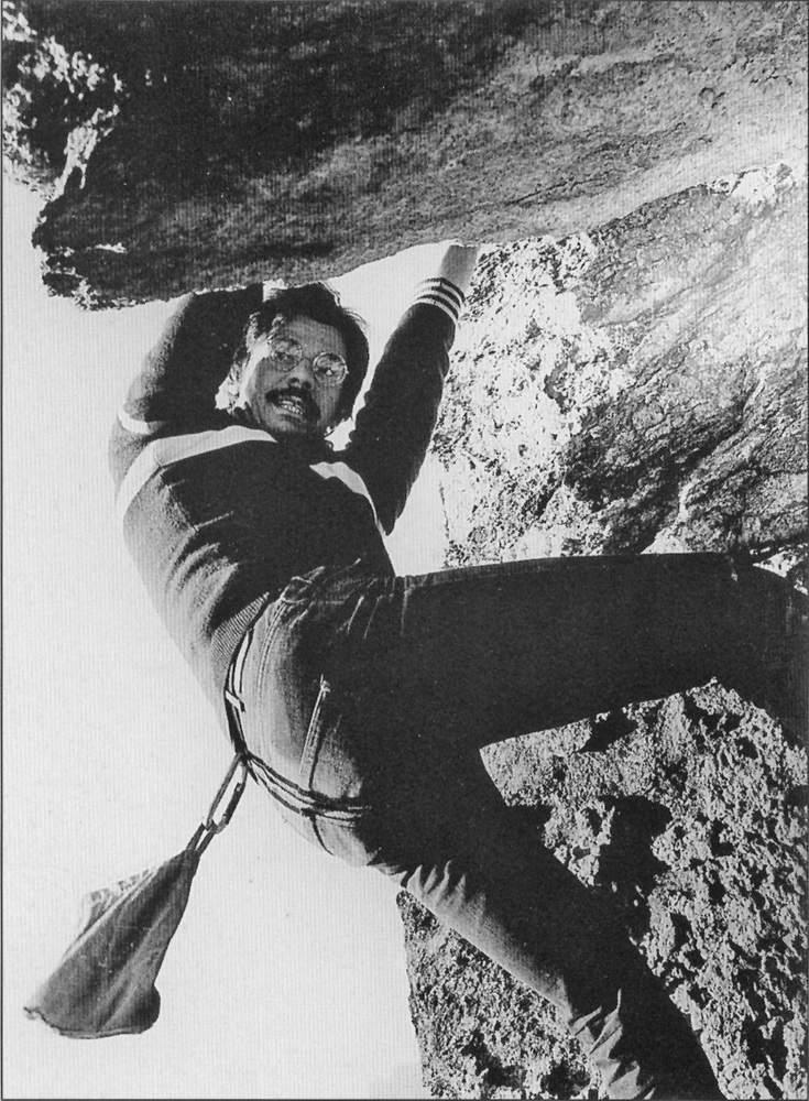 Gian Piero Motti, sullo Strapiombo Rosso di Traversella, foto: V. Pasquali