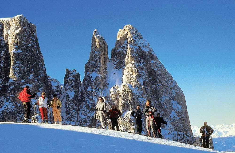 Alpe di Siusi, Sciliar, Punte Santner ed Euringer