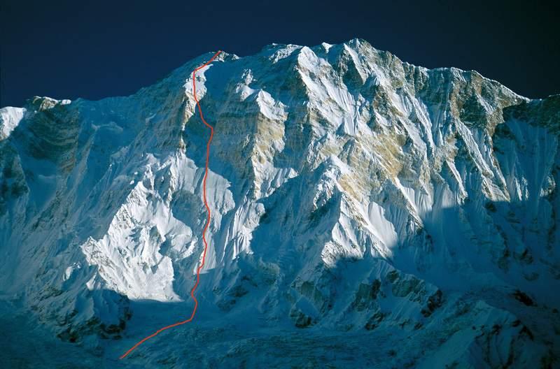 La parete sud dell'Annapurna all'alba
