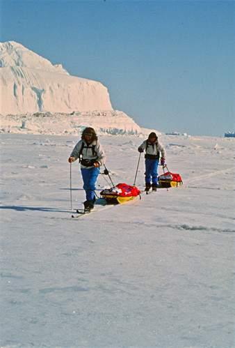 Thule, Groenlandia 1993, traversata Isertok-Thule dei fratelli Messner, foto di Renato Moro
