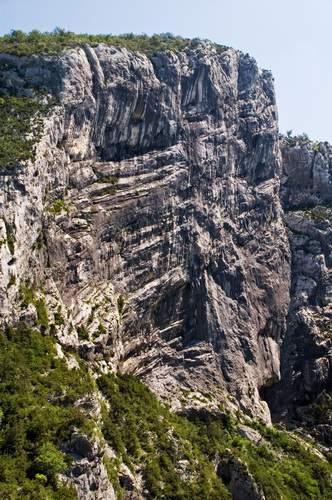 Gorges du Verdon (Provenza), Paroi du Duc