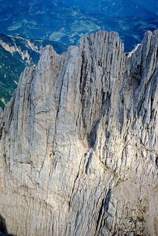 Predigtstuhl, parete ovest dal Fleischbank, Kaisergebirge, Tirolo