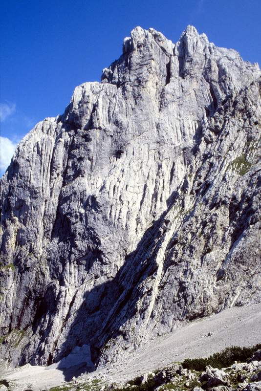 Tirolo, Kaisergebirge, parete ovest del Totenkirchl