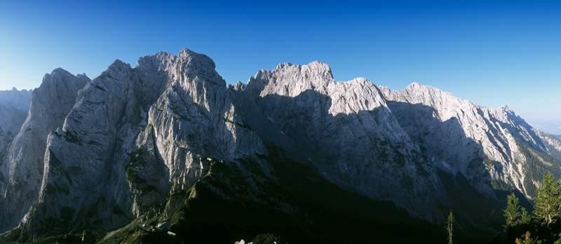 Tirolo, Kaisergebirge, panorama dallo Stripsenjochkopf