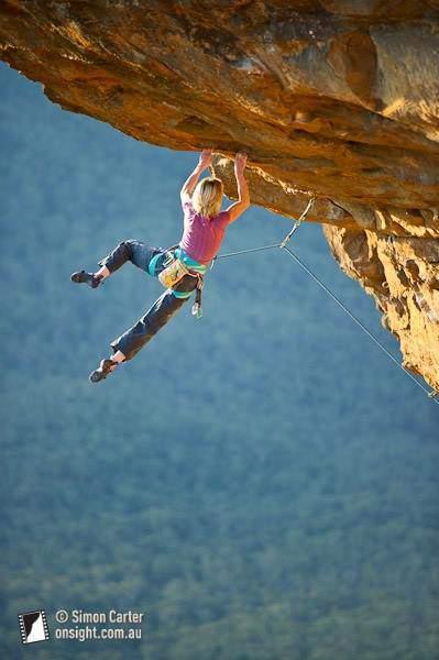ClimbingGirls-09-Monique Forestier Tuckered Out (30), Diamond Falls, Blue Mountains, NSW, Australia.