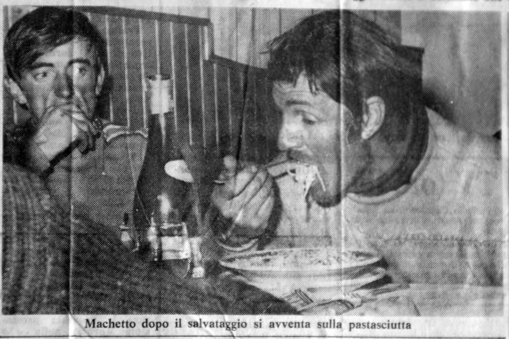 Polemica sul salvataggio del Col de Peuterey. B. Allemand e G. Machetto